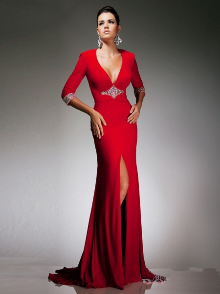Gorgeous-Long-Sleeve-Chiffon-Slit-Wrap-Evening-Dress-with-Brooch-PDE0005-640x853